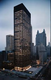 The Seagram Building in New York.