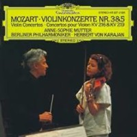 Anne Sophie Mutter's first recording of Mozart Concertos