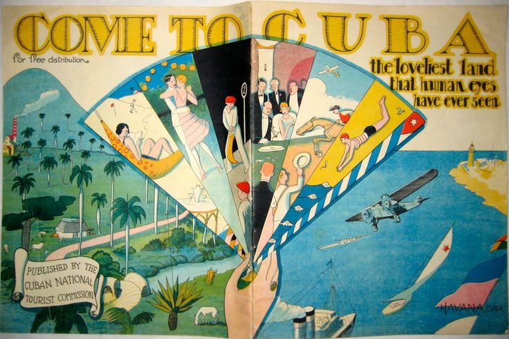 An art deco travel brochure from the 1920s.
