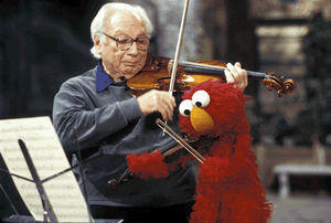 Isaac Stern with Elmo