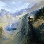 """Manfred On The Jungfrau,"" watercolor by John Martin (1837)"