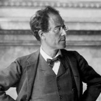 Gustav Mahler in the foyer of the Vienna State Opera, 1907