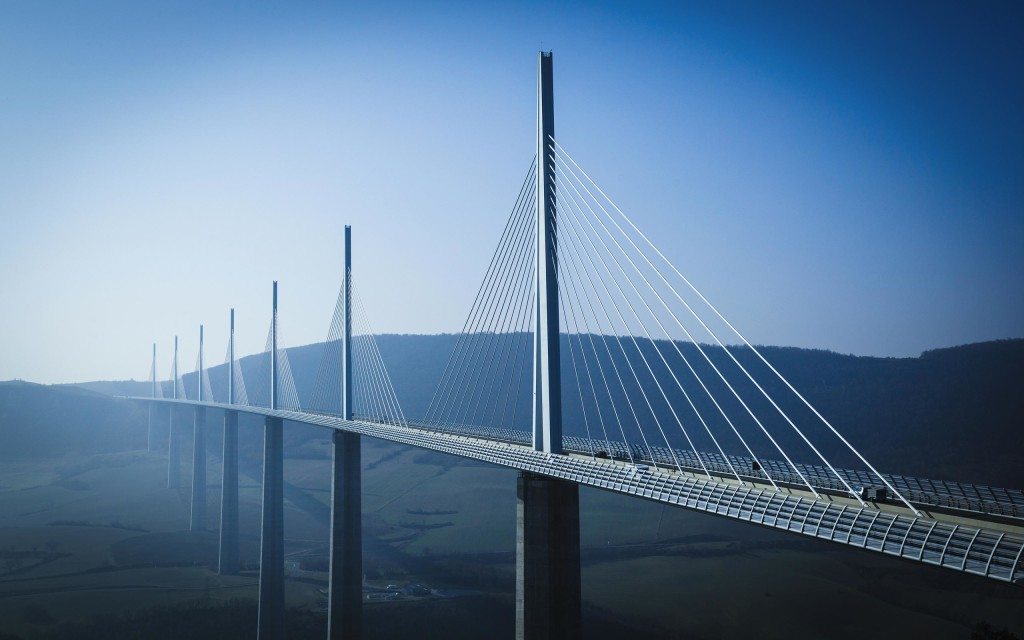 The Millau Viaduct in Southern France, designed by Sir Norman Foster.