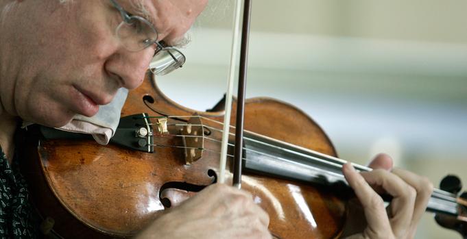 Latvian violinist Gidon Kremer